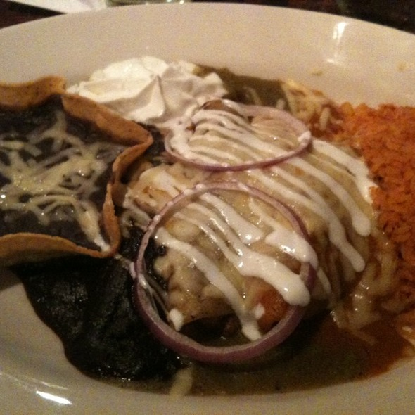 Enchilada Combo Plate @ Fuego Mexican Grill