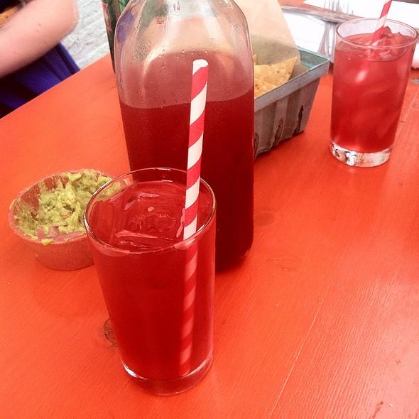 Agua Fresca With Vodka @ Antique Taco