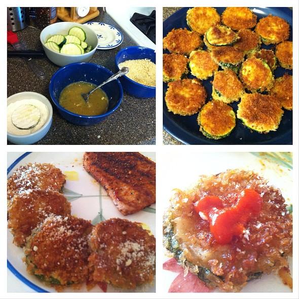 Panko Breaded Zucchini Bites @ Home