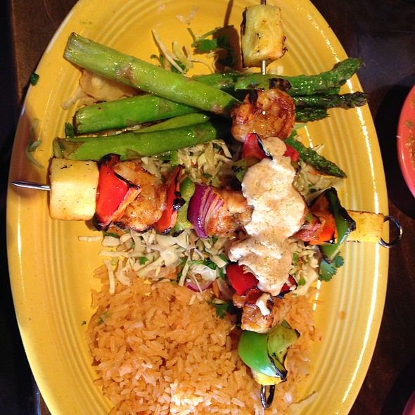 Achiote Grilled Prawn Skewers - Agave Cocina & Cantina - Redmond, Redmond, WA