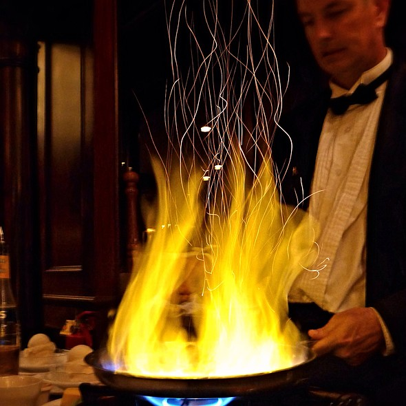 Bananas Foster Flambé - Hy's Steak House - Waikiki, Honolulu, HI