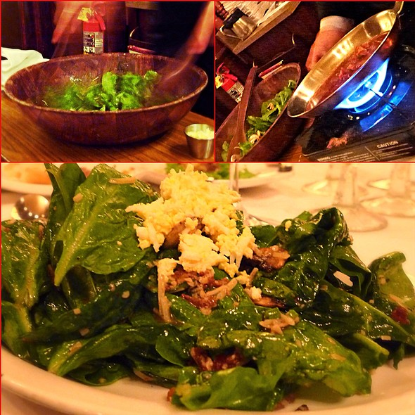 Spinach Salad With Bourbon Vinaigrette Bacon Dressing - Hy's Steak House - Waikiki, Honolulu, HI