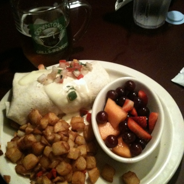 Breakfast Burrito @ Downtown Grill & Brewery