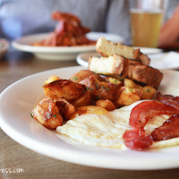 Two Eggs, Bacon, Fried Potatoes, Toast