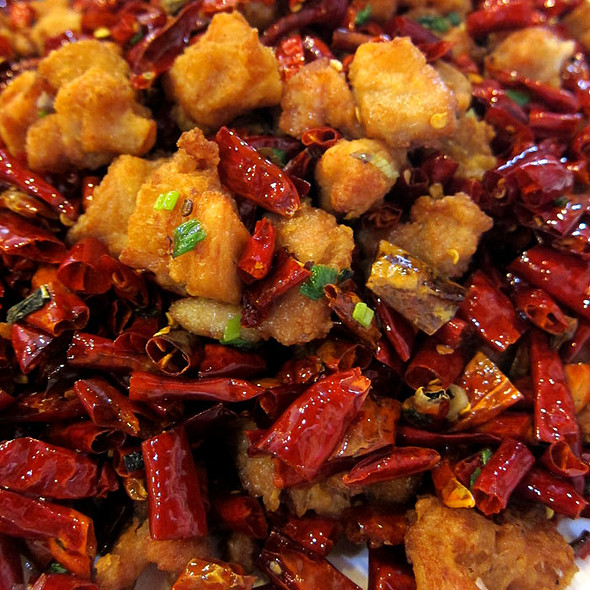 ChongQing Spicy Deep-Fried Chicken @ Lucky Sichuan Restaurant