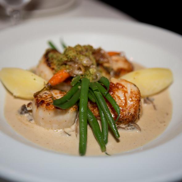Pan-seared diver scallops - Cafe Provence, Prairie Village, KS