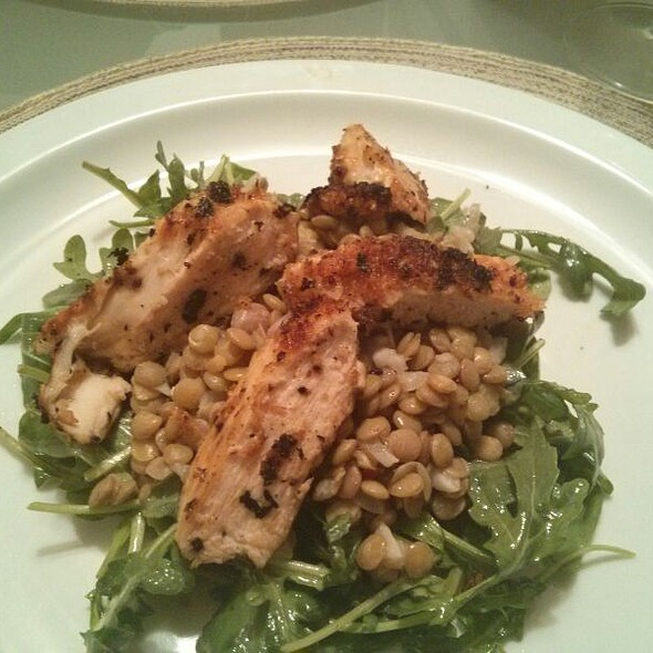 Lentil Radish Salad With Chicken @ Where The Chef Eats
