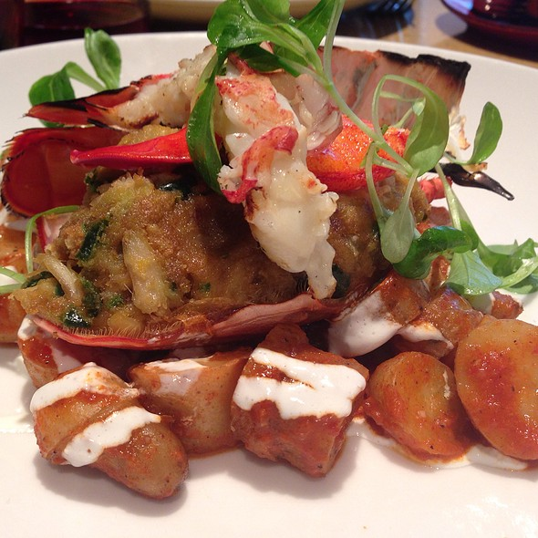 Baked Crab Stuffed Maine Lobster