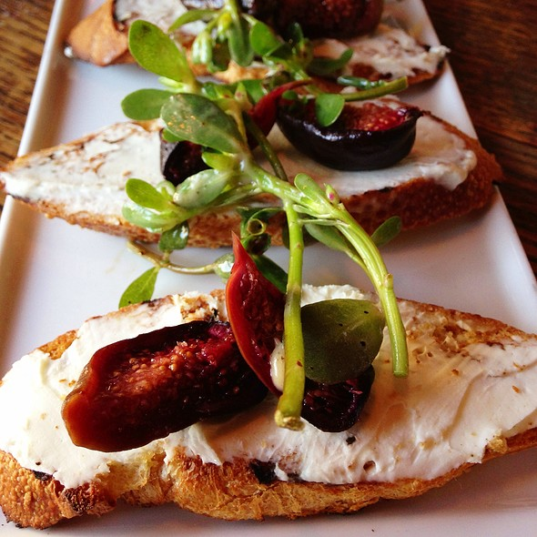 Roasted Summer Figs & House Ricotta On Toasted Baguette - Florio, San Francisco, CA