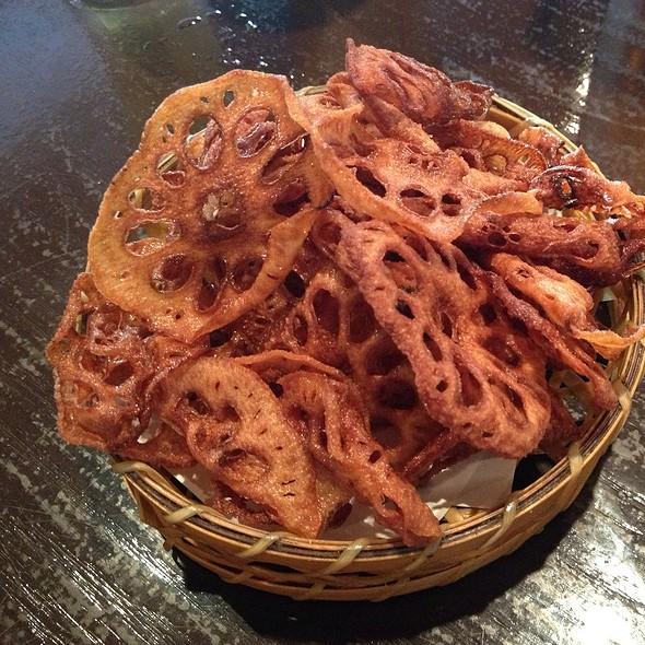 Lotus Roots Chips With Celery Salt @ Kiraku