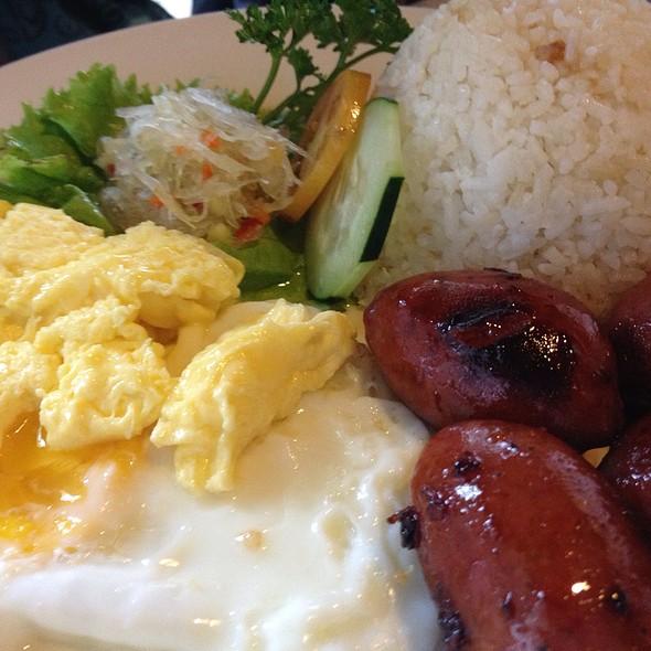 Longanisa w/ Garlic Rice & Egg @ Bag of Beans