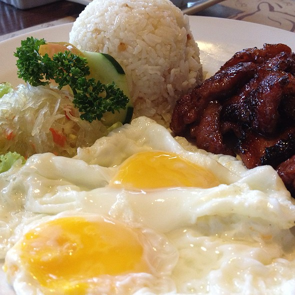 Tocino w/ Garlic Rice & Egg @ Bag of Beans