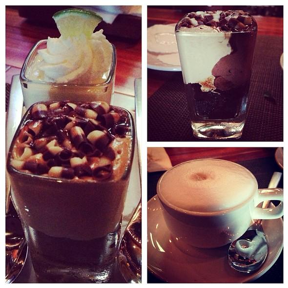 Keylime & Chocolate Pb Mini Desserts With Cappuccino - Seasons 52 - Boca Raton, Boca Raton, FL