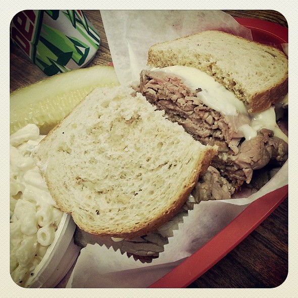 Hot Roast Beef Sandwich! @ Carl's Deli