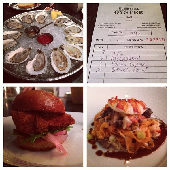 Sunday Dinner at @icobar @ Island Creek Oyster Bar
