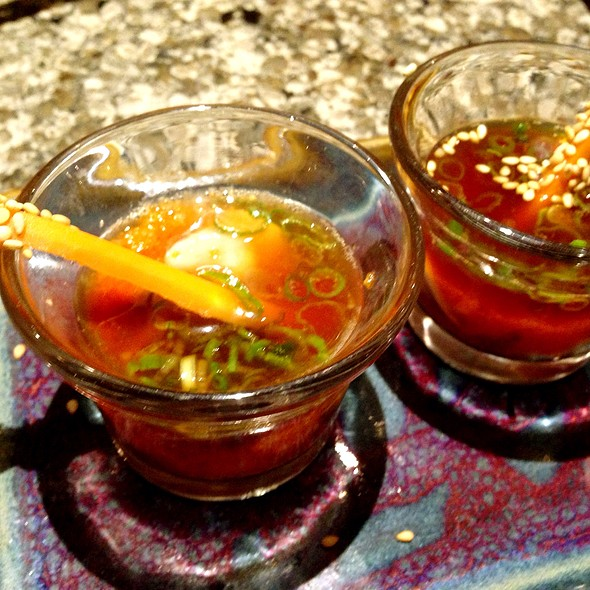 Oyster Shots @ Encinitas Sushi Lounge