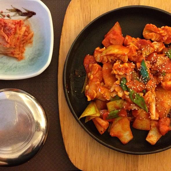 Tintenfisch + Gemüse @ Kims Restaurant