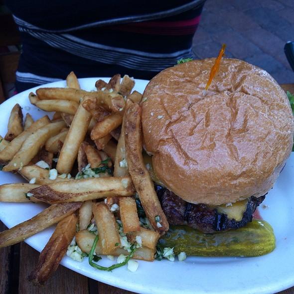 Cheeseburger And Garlic Fries @ Marin Brewing Company
