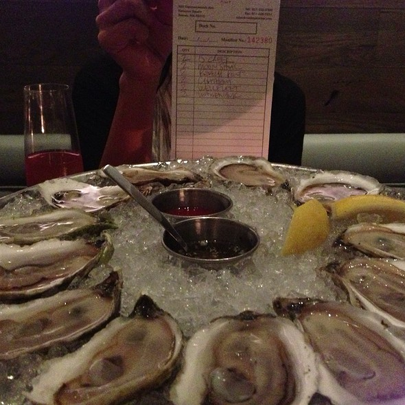 Assorted Raw Oysters - Island Creek Oyster Bar, Boston, MA