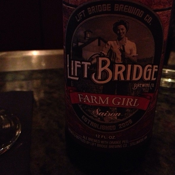 Lift Bridges Farm Girl Saison Beer - FireLake Grill House Downtown Minneapolis, Minneapolis, MN