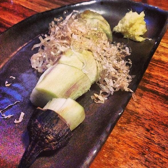 Grilled Japanese Eggplant with Bonito Flakes @ Ippuku