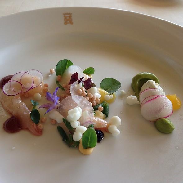 Crabmeat Opus, Avocado, Rojas Prawn In Variation
