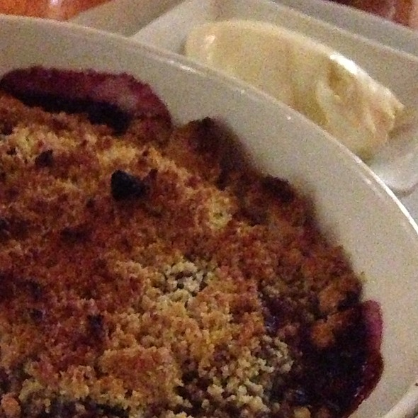 Pear, Plum And Mixed Berry Crumble With Double Cream