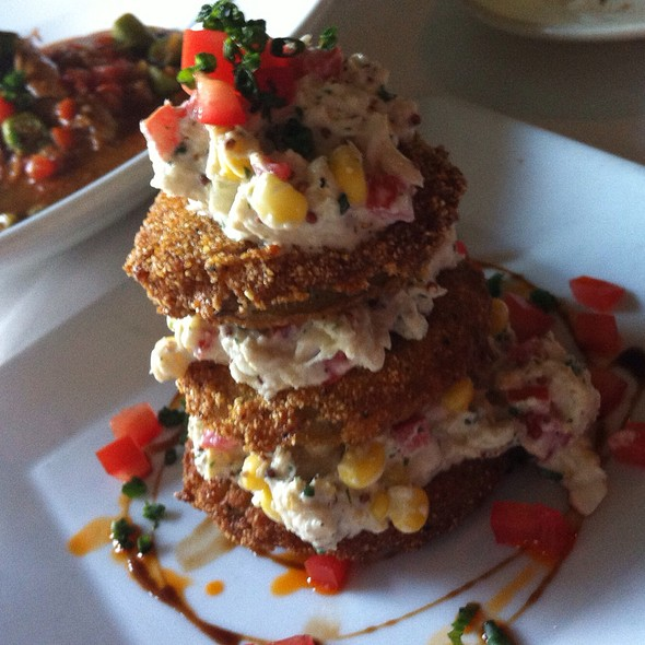 Fried Green Tomatoes W/Corn & Crab Salad