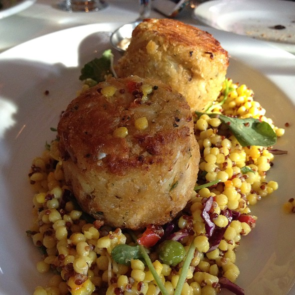 Crab Cakes Over Couscous & Quinoa - Libby's Cafe & Bar, Sarasota, FL