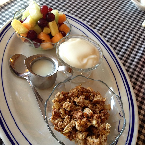 House Made Granola With Yogurt And Fruit - Apple Farm Restaurant, San Luis Obispo, CA