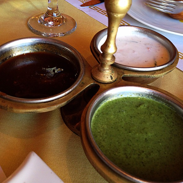 Condiments At India Garden