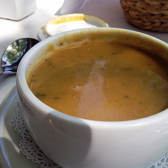pumpkin soup - Nonni's Bistro, Pleasanton, CA