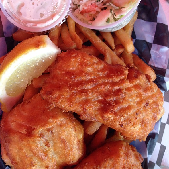Fish And Chips At Patio American Grill