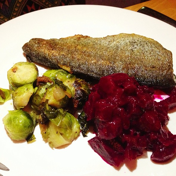Trout, Brussel Sprouts, Beets - Maya, Charlottesville, VA