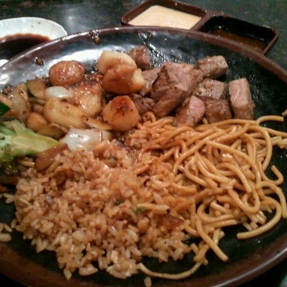Steak and Scallop Dinner @ Hana Japanese Steakhouse