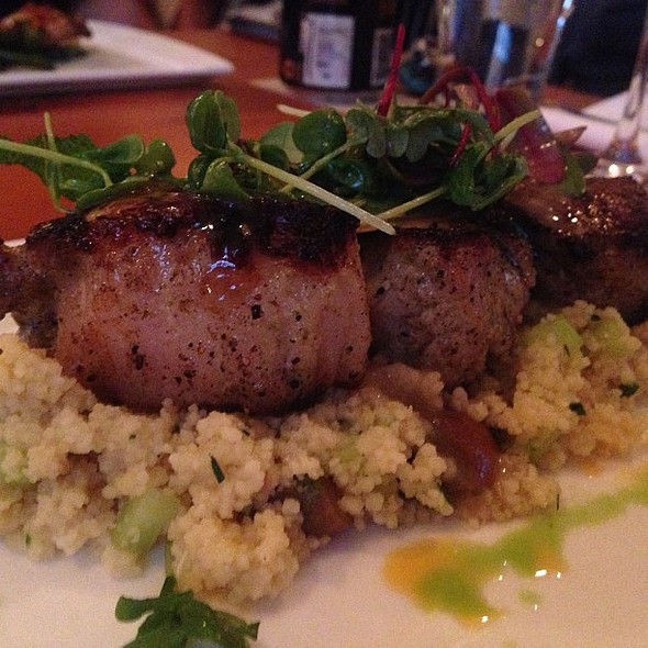 Pork chops with couscous @ The Wine Kitchen Purcellville