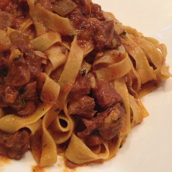 Homemade Fettuccine With Wild Boar Ragout - Cesco Osteria, Bethesda, MD