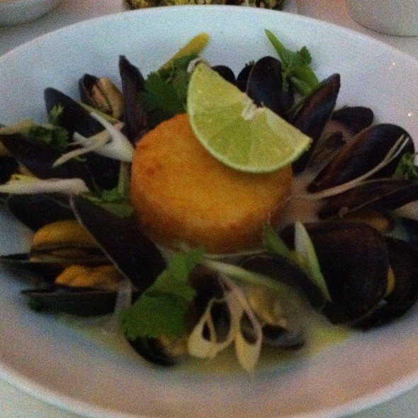mussels with curry - AltaMare, Miami Beach, FL