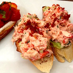 Lobster Bruschetta - Bin 14, Hoboken, NJ