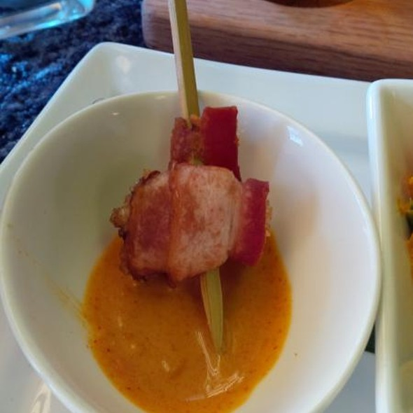 Birkshire Bacon Wrapped Fanny Bay Oyster Stick @ Bhima's Warung