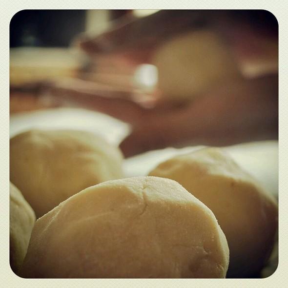 Plum Dumplings in Progress