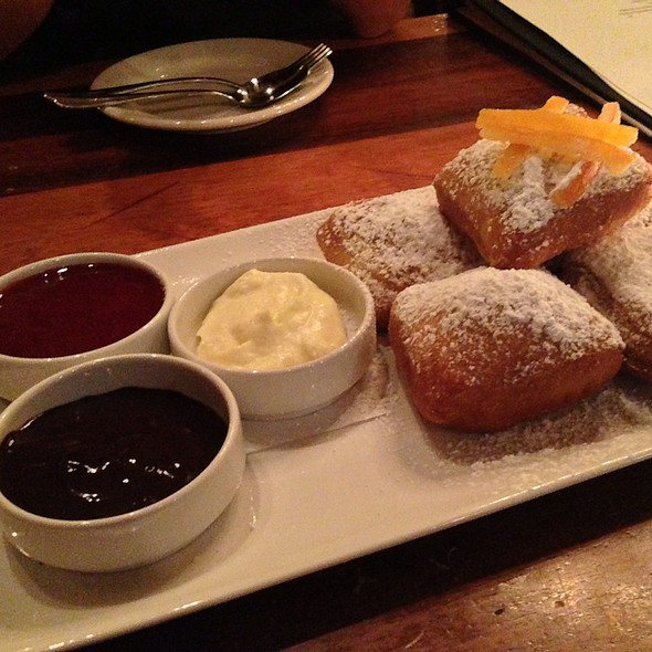Beignets With Chocolate & Raspberry And Vanilla Sauces - 900 Wall, Bend, OR