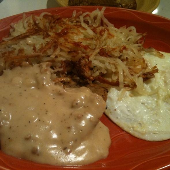 chicken fried steak and eggs @ Christie's