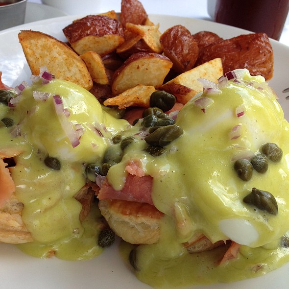 Smoked Salmon Benedict - VILLAGE California Bistro & Wine Bar, San Jose, CA