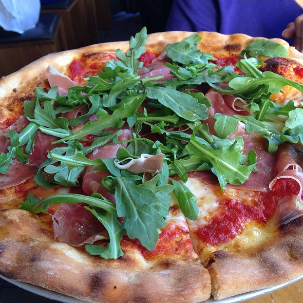 Prosciutto Pizza with Wild Arugula @ Delarosa