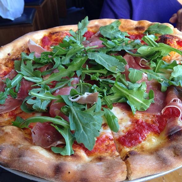 Prosciutto Pizza with Wild Arugula @ Delarosa