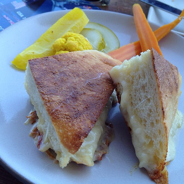 grilled 3 cheese sandwich w/pickled vegetables @ Hog Island Oyster Co.