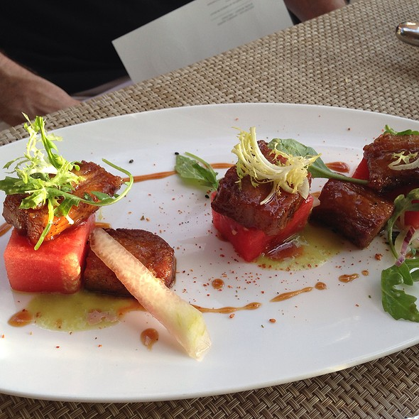 Pork Belly, Compressed Watermelon, Pickled Shallots, Jalapeño Vinaigrette - El Dorado Kitchen, Sonoma, CA