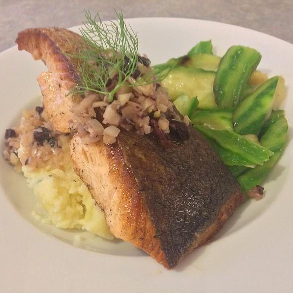 Pan Fried Salmon With Mediterranean Slaw @ Kin's Home Kitchen