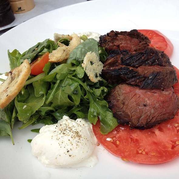 Hanger Steak, Burrata, Summer Tomatoes